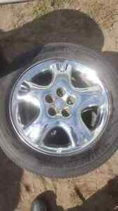 4 roue rim ring mag 16 pouces Chrome Dodge Toyota Subaru 5 x 100