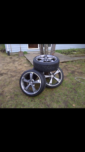 Momo rims with low profile tires
