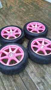 "17"" Rims With Tires - 5x114.3 - 5x100 London Ontario image 4"