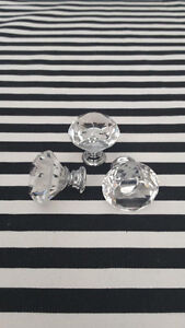 Beautiful crystal glass knobs / poignée
