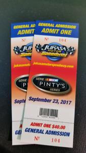 Jukasa Speedway tickets for NASCAR Pintys Series