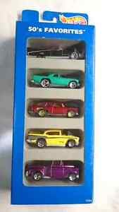 HOT WHEELS DIE CAST 1995 GIFT PACK SET OF 5 CARS 50's FAVOURITE
