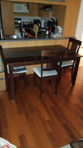 Dining room table and 3 chairs