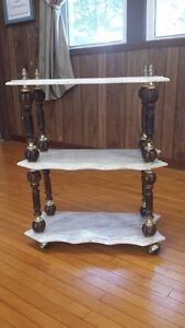 Marble serving cart