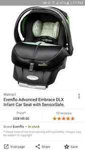 Evenflo Embrace DLX car seat brand new in box
