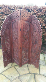 Hand Crafted Wooden Screen