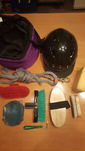 Starter Horse Grooming Kit - with Youth helmet