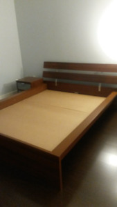 MOVING SALE: IKEA Hopen Queen Bed Frame + 1 Night Table + 2 Unde