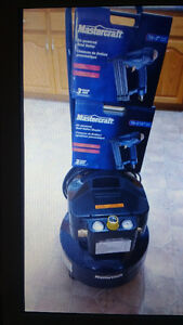 Air compressor  2 H.p 6 gallons and 2 air powered Brad Nailer 7