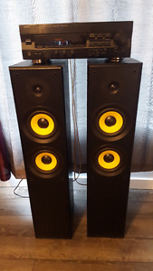 Yamaha amp and precision speakers