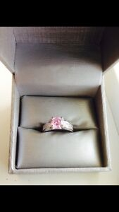 PINK SAPPHIRE SOLID STERLING SILVER (925) RING!!