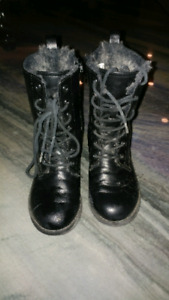 Girls leather boots size 12