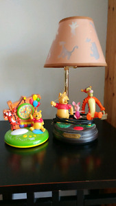 Winnie the Pooh lamp and clock