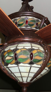 Stained glass ceiling fan orig. $1200