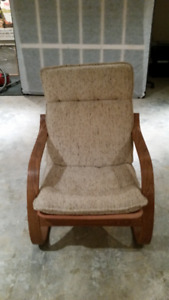 IKEA CHAIR WOOD CURVED ARMS