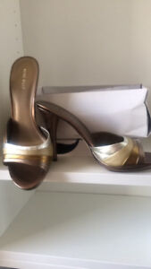 Nine West bronze heeled sandals