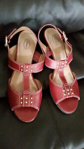 Brand New Red Sandals with Leather Upper - Size 9 - $20 Strathcona County Edmonton Area image 1