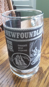 Glass Newfoundland Labrador Beer Stein