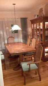 Set de salle a diner en chene/Oak dining room set