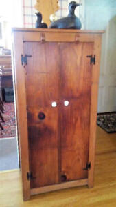 ANTIQUE SOLID PINE JELLY CUPBOARD