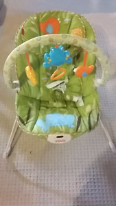 Infant chair with music and vibration