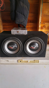 """2 10"""" subs and amp"""