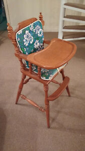Baby High Chair - Solid Maple