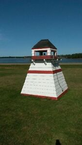 Working Folk Art Lighthouse