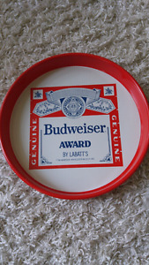 Budweiser beer tray.