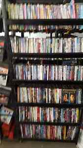 OVER 800 DVDS AND LARGE 4' X 6' DISPLAY