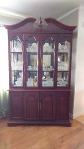 China Cabinet with Hutch + Dining Room Set