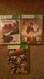 NFS: most wanted, Fable 3 & Borderlands 2