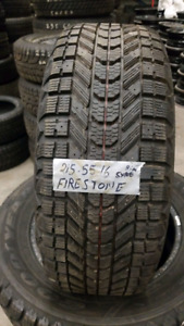 A set of 4 Firestone snow tires. 215/55/16