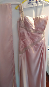 Mon Cheri Evening Gown - dusty rose