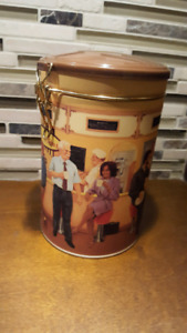 """TIM HORTONS  """"GATHERING PLACE""""  COLLECTIBLE COFFEE CANISTER"""