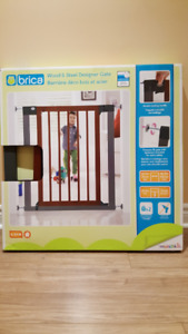 Brica wood and steel designer gate
