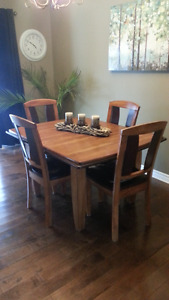 Ashley Two-Tone Rectangular Extension Dining Room Table set