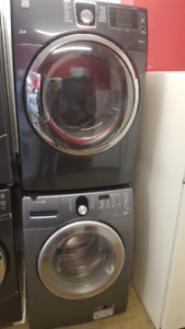 LARGE FRONT-LOAD WASHER AND DRYER