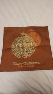 Brand new Red/Golden Christmas cushion covers, Linen