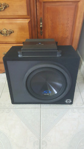 Alpine 12 inch subwoofer/box and Alpine amplifier.