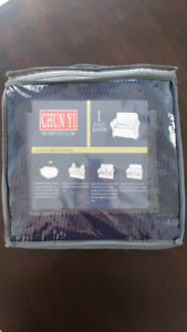 Chun Yi Navy Blue Chair slip cover