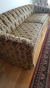 Beautiful Antique Couch - Solid Wood Frame