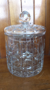 Crystal cookie jar/canister