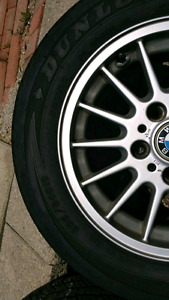 Bmw rims with brand new Dunlop tires