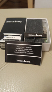 "Barcus Berry 1455-3 Acoustic Guitar Pickup ""Insider"" - New!"