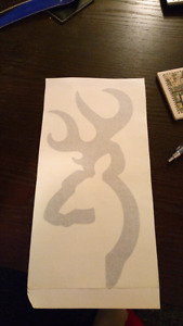 Silver browning decal
