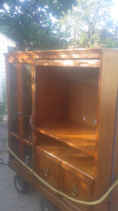 Beautiful used solid wood Entertainment unit