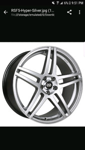 Enkei RSF5 wheels and tires