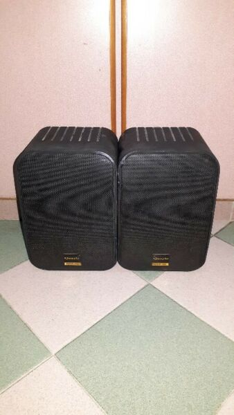 QUALITY SOUNDS OF QUAYLE QSP-60 MUSIC SPEAKERS MADE IN USA.