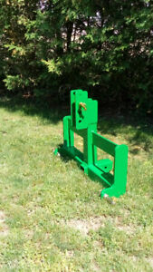 Green or Black 3PT Hitch Weight Bar With Hitch Receiver - Cat 1